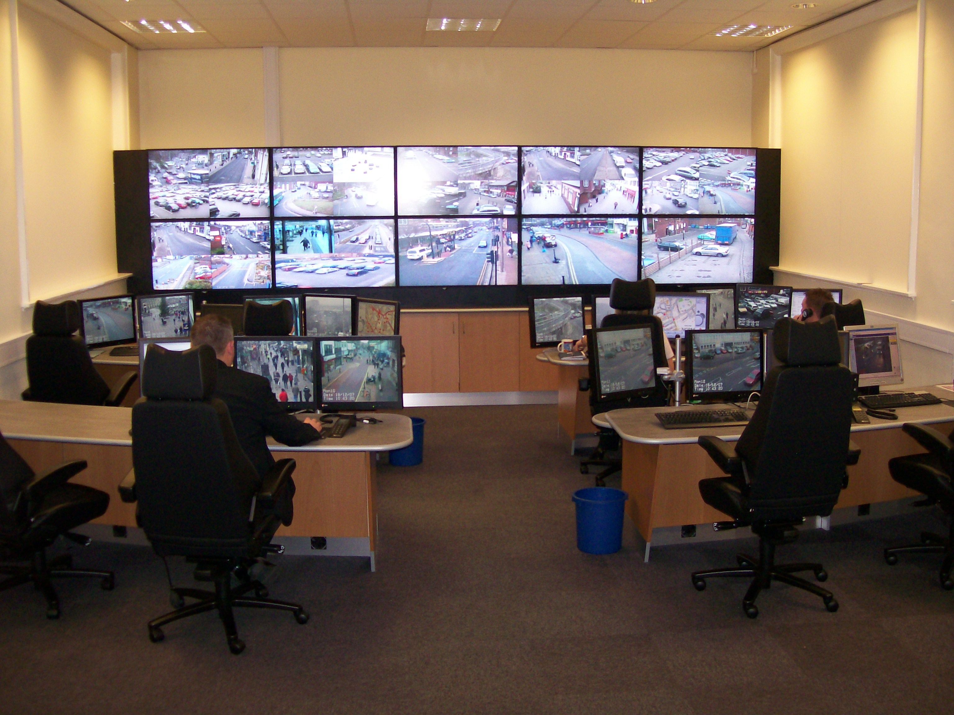 Wakefield mdc cctv control room intech solutions for Room design website